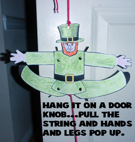 pull the string and his hands and legs pop up.