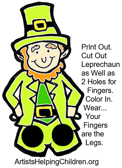 photograph about Leprechaun Cut Out Printable known as How toward Create a Leprechaun Finger Puppet for St. Patricks Working day