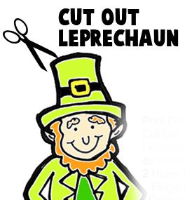Cut out Leprechaun.