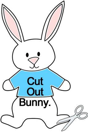 Cut out bunny.