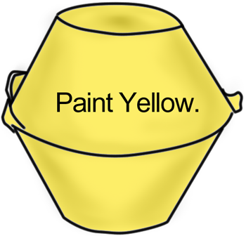 Paint yellow.