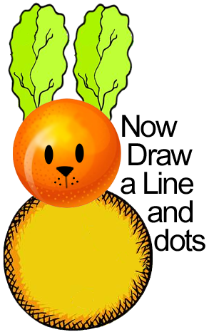 Now draw a line and dots.