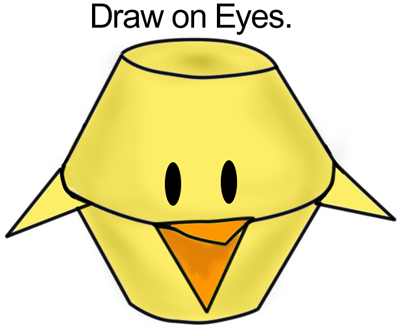 Draw on eyes.