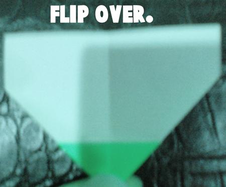 Flip over.