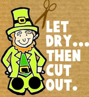 Let dry.... then cut out.
