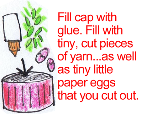 Fill cap with glue.