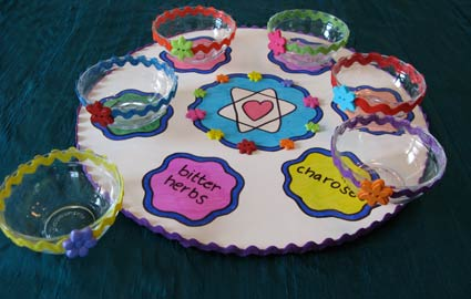 Bright Passover Seder Plate