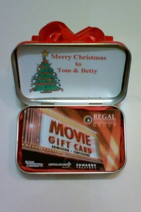 Altoid Tin Gift Card Holder