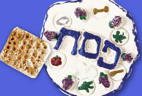 Model Clay Passover Seder Plate