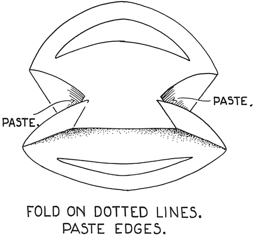 Fold on the dotted lines.  Paste edges.