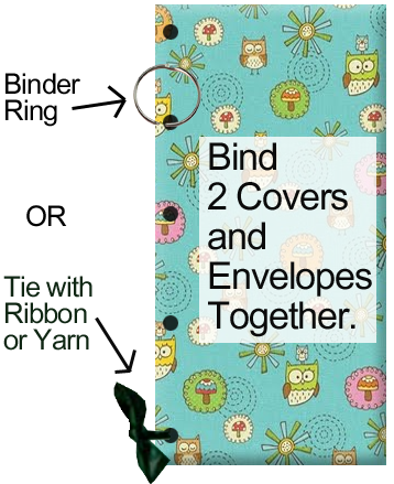 Bind 2 covers and all the envelopes together.