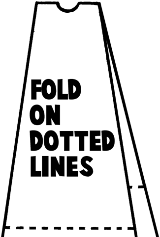 Fold on dotted lines.