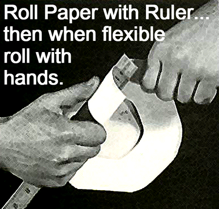 Roll paper with ruler