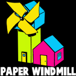 How to Make a Folded Paper Windmill