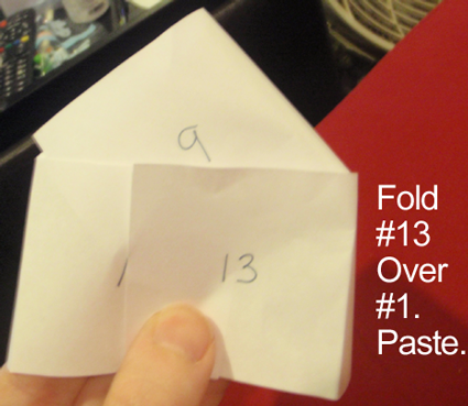 Fold #13 over #1.  Paste.