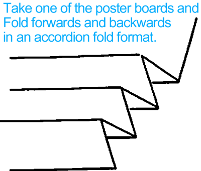 Fold one of the poster boards as seen in above