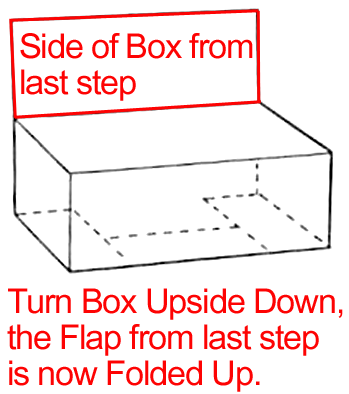 Turn box upside down so the hole is now on the bottom.