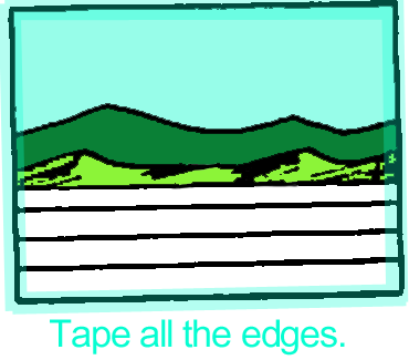 Bind edges with tape.