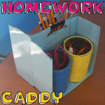 How to Make Homework Caddy Cans