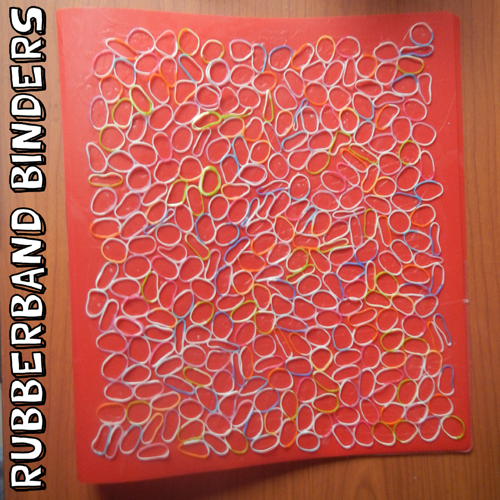 How to Make Rubberband Decorated Binders