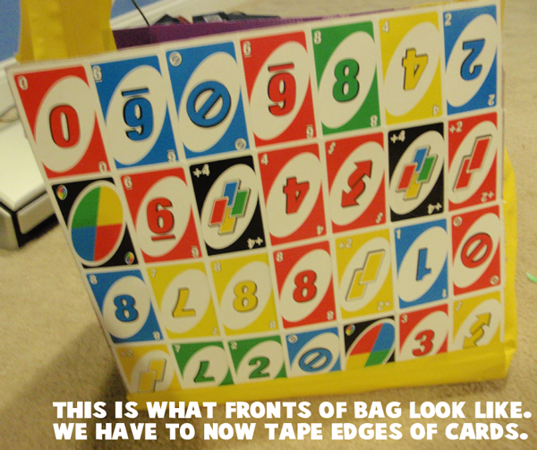This is what fronts of bag look like.