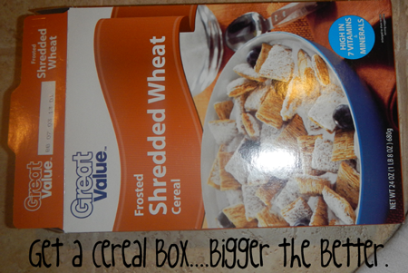 Get a cereal box