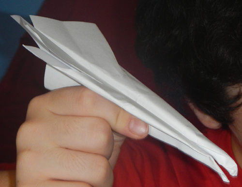 now you have your finished Doubled Edged Paper Airplane.