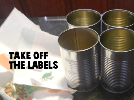 Take off the labels.