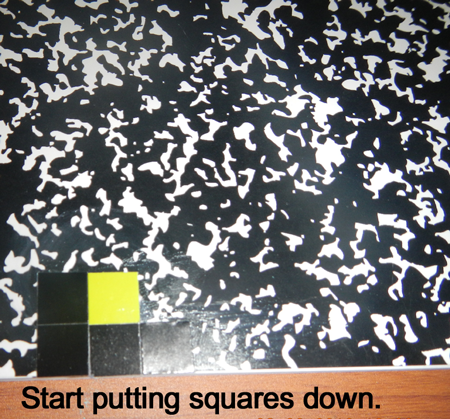 Start putting squares down.