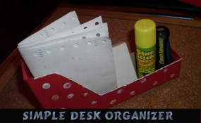 How to Make a Simple Desk Organizer