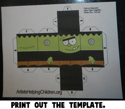 Step 1 print template