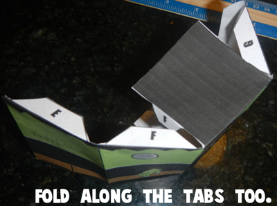 Step 5 - Fold Along the Tabs