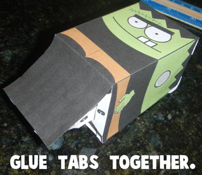 Step 6 - Glue Tabs Together