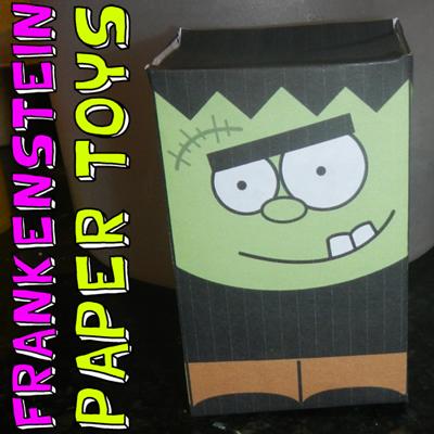 Frankenstein Paper Toys Craft for Halloween