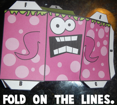 Step 3 fold on the lines