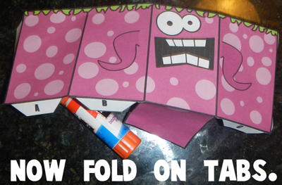 Step 4 now fold on tabs
