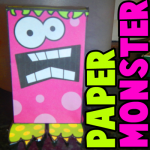 monster paper toy craft for halloween