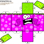 Paper Foldable Monster Templates