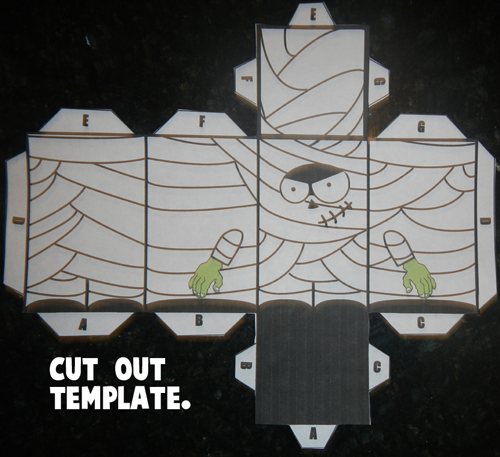 Step 1 Cut out Paper Mummy Template