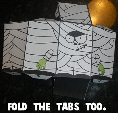 Step 4 Fold the tabs too