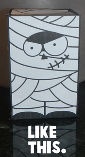 Step 6 The Paper Mummy FIgure