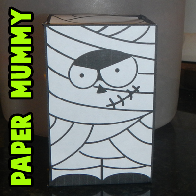 Foldable Paper Mummy Toy Craft for Halloween