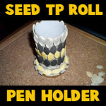 How to make a Pen holder decorated with seeds