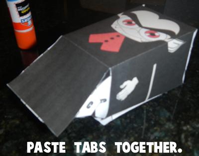 Step 6 Glue Dracula Together