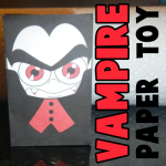 Paper Vampire Dracula Toy Figure for Halloween