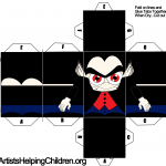 Vampire Dracula Paper Toy Template for Halloween