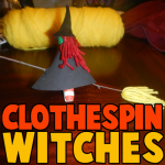 How to Make Clothespin Witches