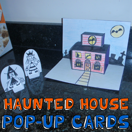 How to Make Haunted House Pop-Up Cards for Halloween