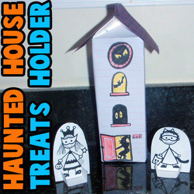 How to Make a Haunted House Treat Holder for Halloween