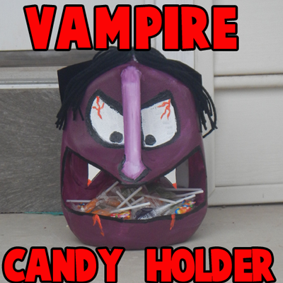 Milk Jug Vampire Candy Holder